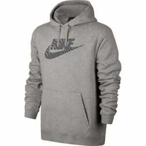 huge selection of f7214 7fcdd Details about Mens Nike Pullover Hoodie 861726-063 Grey Brand New Size 2XL