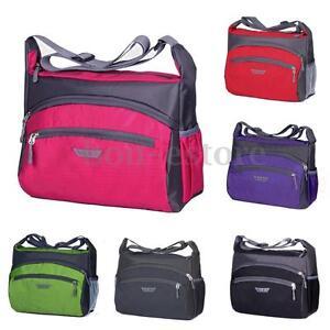 unisex women travel luggage sports nylon gym tote shoulder bag outdoor handbag ebay. Black Bedroom Furniture Sets. Home Design Ideas