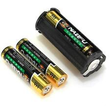 Cylindrical 3 AAA Plastic Akku Holder Adapter Case Box Taschenlampen Lamp Hülle