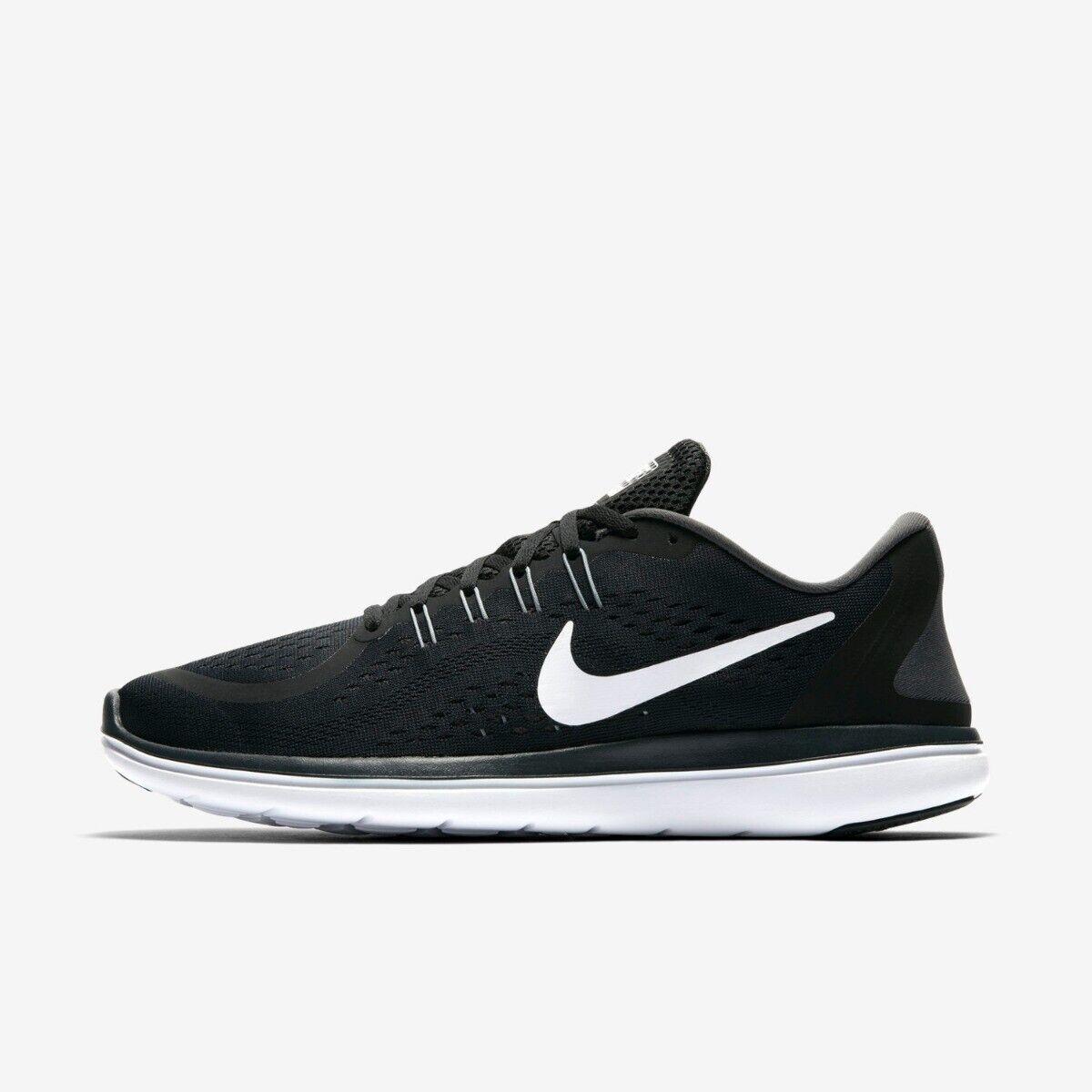 Nike Flex 2017 RN para hombre entrenador zapatos talla 8 9 10 Negro blancoo Nuevo PVP  -