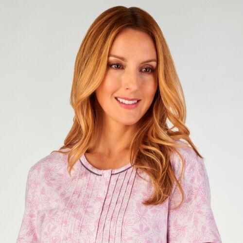 100/% cotone jersey manica lunga Premium Camicia Da Notte ND2106 Slenderella Camicia da notte