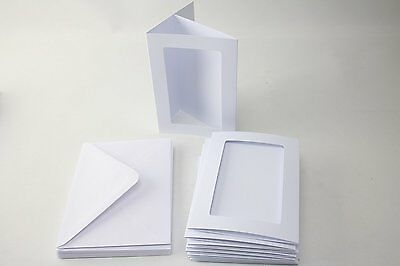 Craft UK A6 3 Fold Aperture Cards and Envelopes White Rectangular Plain
