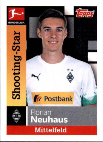 Sticker 207 TOPPS Bundesliga 2019//2020 Florian Neuhaus Shooting-Star