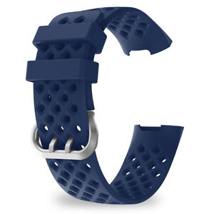 For-Fitbit-Charge-3-Strap-Bracelet-Silicone-Wristband-Watch-Bands-Soft-Silicone