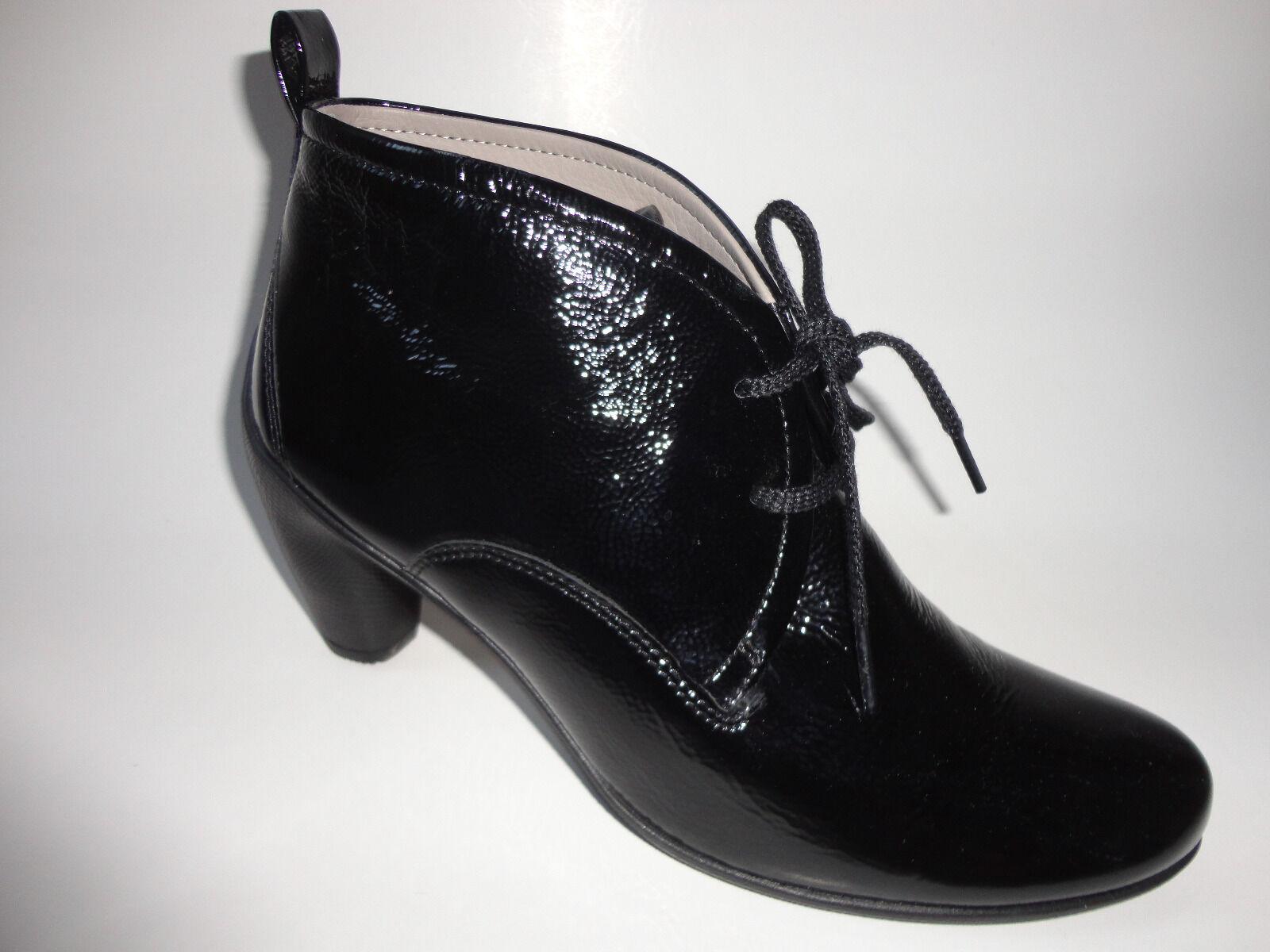 ECCO Damen Lackleder Stiefel Stiefelette Schuhe Gr.40 schwarz Neu