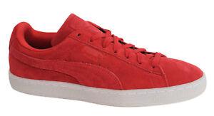 Puma Suede Classic di colore rosso Stringati In Pelle Sneaker Uomo 360850 02 M4