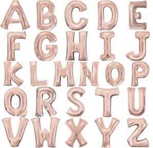 Image Is Loading 32 034 LARGE ROSE GOLD FOIL ALPHABET LETTER
