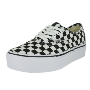 4b072952a91a01 Image is loading VANS-AUTHENTIC-PLATFORM-2-0-CHECKERBOARD-WHITE-MENS-