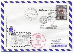 Brillant 1973 Ballonpost N. 50 Pro Juventute Aerostato Hb-bop Bazenheid Munderfing Une Gamme ComplèTe De SpéCifications
