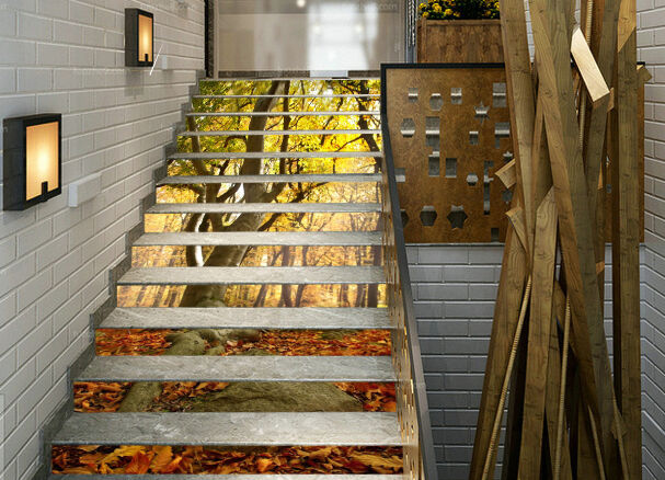 3D Stone, woods 254 Stair Risers Decoration Photo Mural Vinyl Decal Wallpaper AU