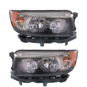 Image Is Loading Subaru Forester 2006 2008 Black Sport Headlights Head