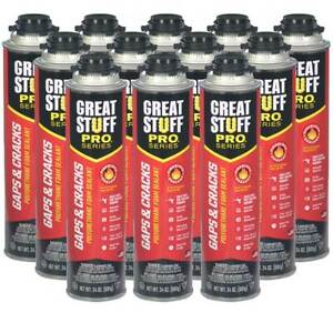 Details about Dow Great Stuff PRO Gaps and Cracks, 24 oz Cans, Case of 12  Cans