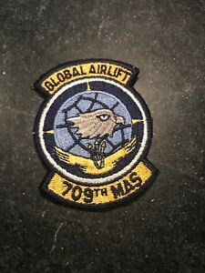 Rare-Vtg-Cold-War-80s-709th-Military-Airlift-Squadron-Patch-3-USAF-Dover-AFB