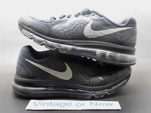 new product 927c1 ac35e Image is loading Nike-Air-Max-2014-Black-Reflective-Silver-Anthracite-