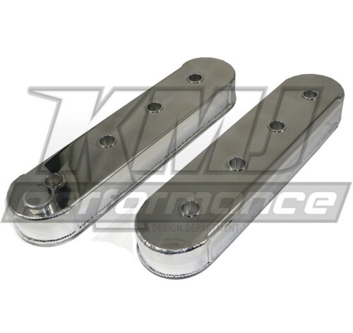 Chevy LS1 LS6 Fabricated Polished Aluminum Valve Covers No Coil Mounts LS2 LS7