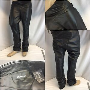 pelle in laterale 539 Express foderata Ygi Pantaloni 6 Zip nera Sz K8 fAB5qw