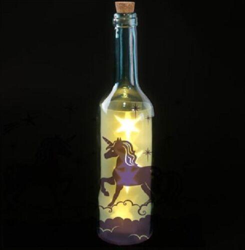 Unicorn Decorative Bottle with Star Shape LED Lights Glow Night Light Girls Gift