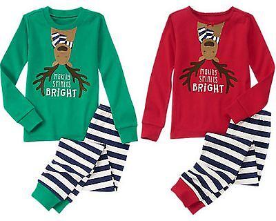 NWT Gymboree Reindeer Holiday Ornaments Gymmies Sleep Set Pajamas PJ Girls 8 10