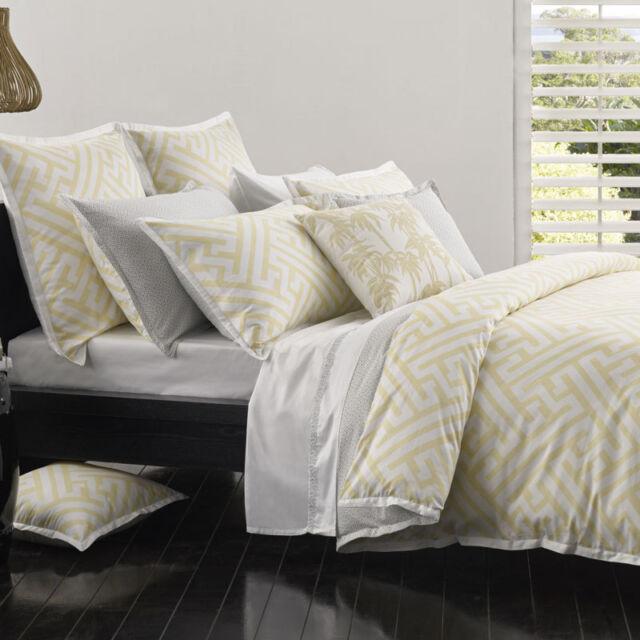 Florence Broadhurst CHINESE KEY YELLOW Duvet Doona Quilt Cover Set 3 Sizes