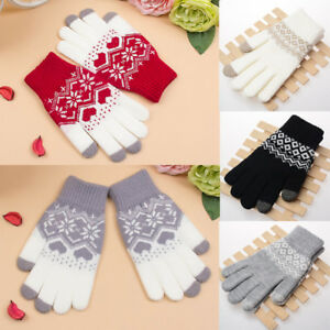 9f224e3fe Popular Touch Screen Gloves Women Girl Stretch Knit Mittens Winter ...