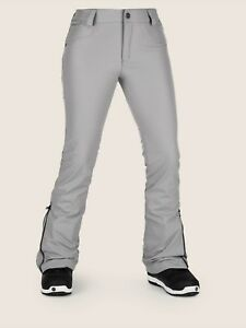 2019-NWT-WOMENS-VOLCOM-BATTLE-stretch-PANTS-S-Charcoal-stretch-skinny-fit