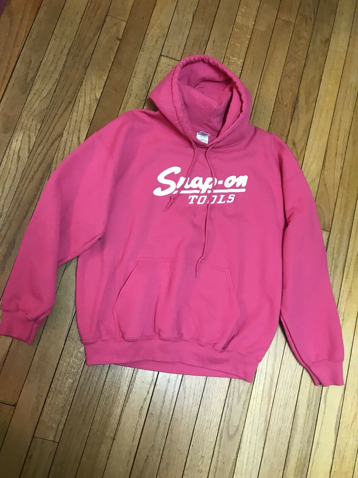 Snap On L XL HOT PINK Hoodie Sweatshirt Long Long Long Sleeve Euc Lkn RARE FIND    75  2d6733