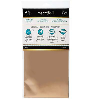 """6/"""" x 12/"""" 20 Piece iCraft Deco Foil Transfer Sheets Rose Gold"""