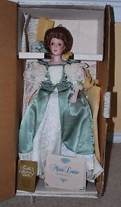 Franklin-Heirloom-Marie-Louise-034-The-Emperor-Waltz-034-Windup-Musical-Doll-In-Box