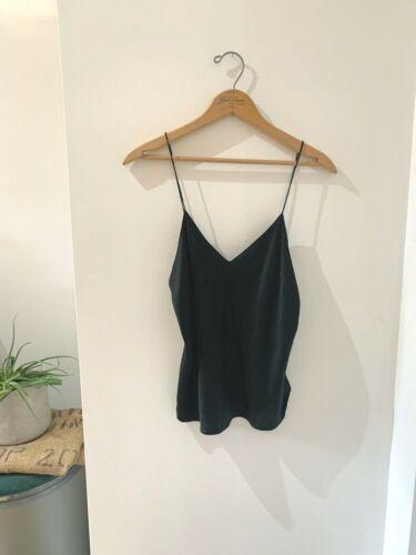 Women's Vintage Black Silk Cami S or M
