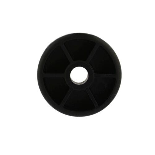 12 x Möbelfuß Ø 30mm h 10mm Kunststoff schwarz rund Möbelgleiter Sofa Sessel