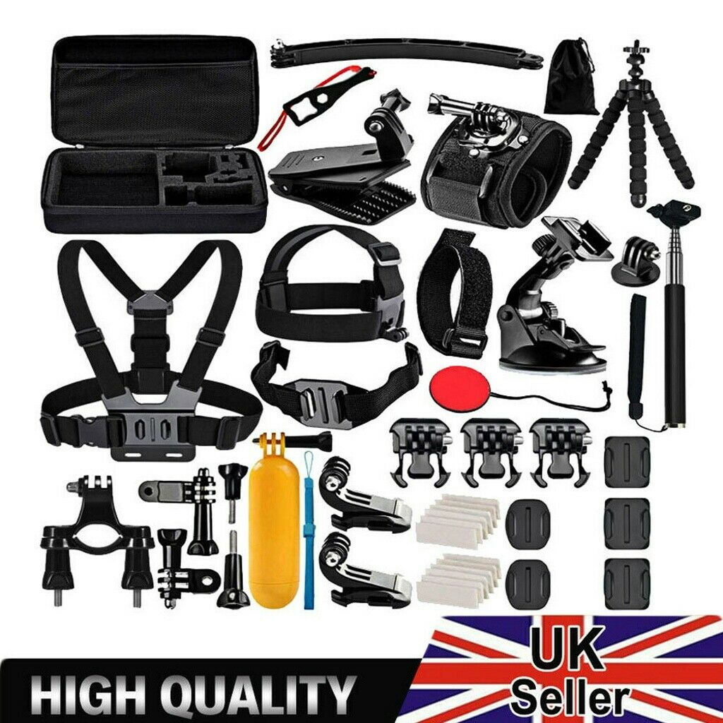 50X Camera Accessories Set For Gopro Sport Action Kit Head Chest Mount Accessory