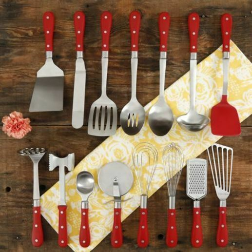 Fantastic Pioneer Woman 15 Piece Kitchen Cooking Utensil Tool And Gadget Set Red New Beutiful Home Inspiration Xortanetmahrainfo