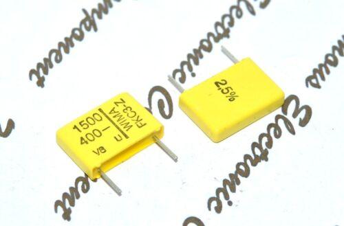 10 mm Condensateur 10pcs-WIMA FKC3Z 1500P 400 V 2.5/% Pich 1500PF 1.5nF 1,5nF