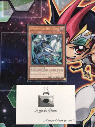 Yu-Gi-OH Commandant Au Disque Héros De La Destinée  LEHD-FRA08 Ultra  1st