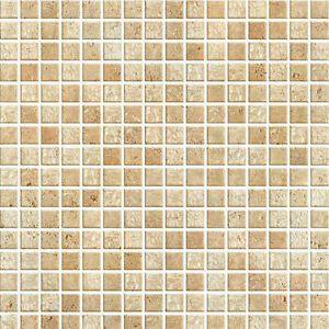 Brown mosaic tile effect self adhesive wallpaper vinyl for Tile effect bathroom wallpaper