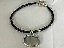 Couldron With Pot TG12 Fine English Pewter on a Faux Leather Snake Bracelet