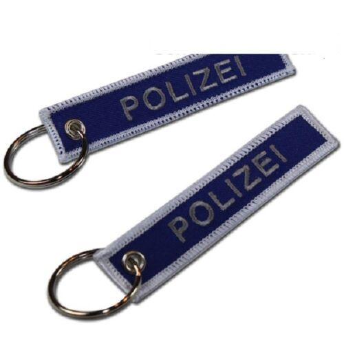 """Schlüsselanhänger /""""Polizei blau/"""" 95x 20 mm 100/% Polyester WS100 018"""