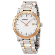 100% Brand NEW Burberry Silver Dial Two-tone Ladies Watch BU9127, We ship fast