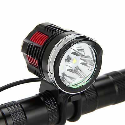 6000LM 3x CREE XM-L R8 LED Head Front Bicycle Light Torch Bike Lamp Headlight