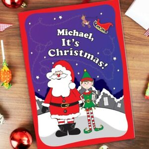 Personalised children's Christmas Story Elf Christmas Story Booklet Xmas Gifts