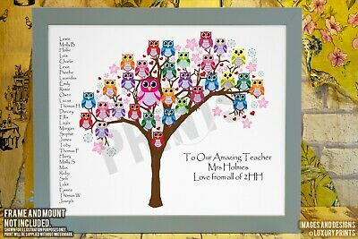 Year 6 Leavers Print Teacher Y6 School Class Gift Present Canvas Thank You