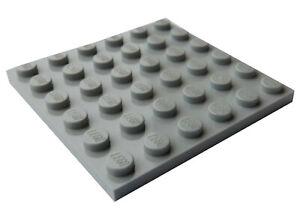 Lego-2-Stueck-hellgraue-light-bluish-gray-6x6-Platten-3958-Neu-Platte-Basics