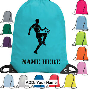 Personalised Football/PE/School/Sports Drawstring Bag Kids' Clothes, Shoes & Accs. Boys' Accessories