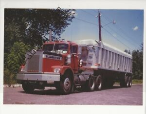 Details about 1967-71 DIAMOND REO Tractor & DORSEY Dump 8x10 Glossy COLOR  Photo taken 1974