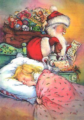 LISI MARTIN Christmas KIDS New year GIFTS Santa Claus ART Postcard modern