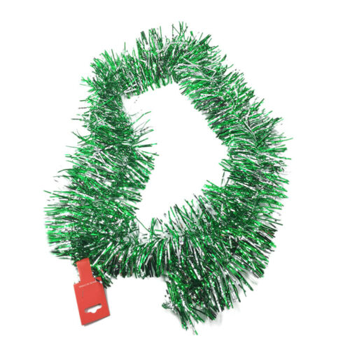 Chunky Tinsel Christmas Tree Decoration Xmas Garland 18 Colors Foil 6.5Ft 2M