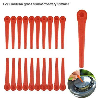 200x Kunststoffmesser Ersatzmesser für Gardena Rasentrimmer EasyCut Li-18//23R