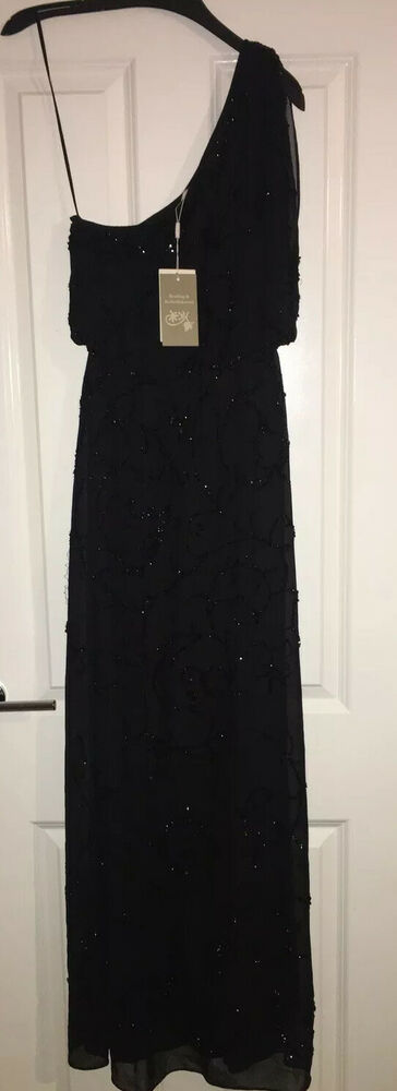 Brand New Sequin Embellie Monsoon Maxi Occasions Robe * Rrp £ 169-taille 8