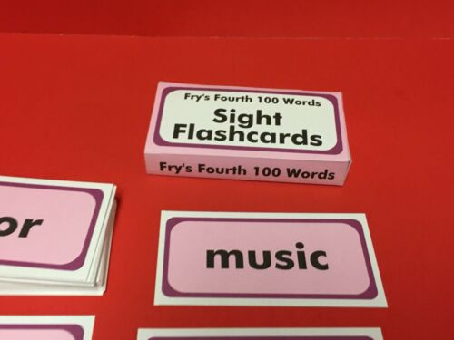 Fry Sight Word Flash Cards Fry/'s Fourth Hundred Words Reading 100 cards