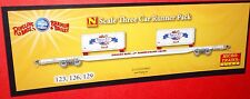 N Micro-Trains 3 car Runner Pack - Ringling Brothers Circus Flat Car  99300050